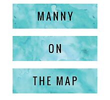MANNY ON THE MAP [Blue] (Clothes, Phone Cases & More) Photographic Print