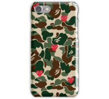 BAPE RED CDG iPhone Case/Skin