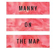 MANNY ON THE MAP [Red] (Clothes, Phone Cases & More) Photographic Print