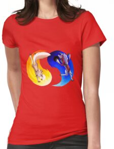Midday vs Midnight Lycanroc Womens Fitted T-Shirt