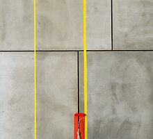 Mondrian-inspired paint rolling by Jane McLoughlin