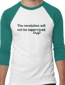 The revolution will not be supervised (3D) Men's Baseball ¾ T-Shirt