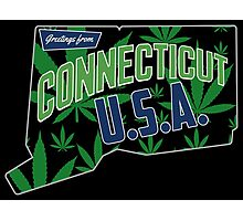 Connecticut  Marijuana Cannabis Weed Connecticut  Photographic Print