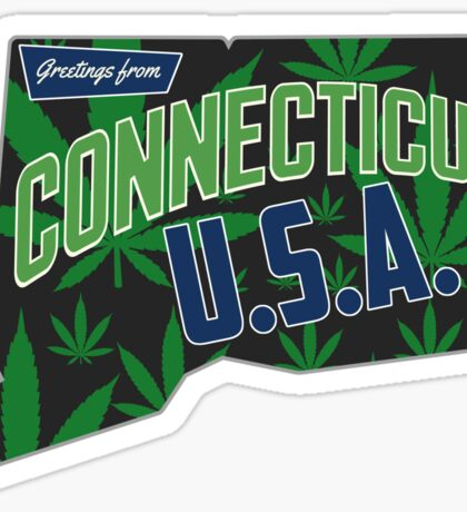 Connecticut  Marijuana Cannabis Weed Connecticut  Sticker