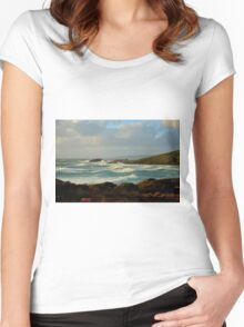 Late Afternoon at Canal Rocks, Yalingup, Western Australia Women's Fitted Scoop T-Shirt