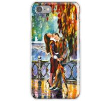 KISS AFTER THE RAIN - Leonid Afremov iPhone Case/Skin