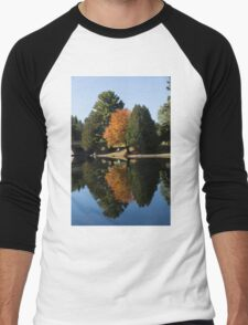 Defying the Green - the First Autumn Tree Men's Baseball ¾ T-Shirt