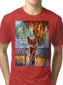 KISS AFTER THE RAIN - Leonid Afremov Tri-blend T-Shirt