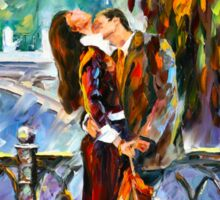 KISS AFTER THE RAIN - Leonid Afremov Sticker
