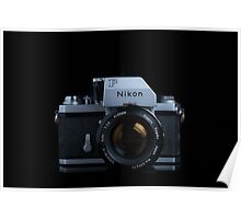 Nikon F with FTn Photomic prism Poster
