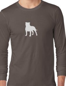 Staffordshire Bull Terrier Silhouette(s) Long Sleeve T-Shirt