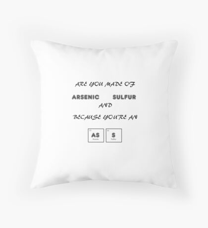 Arsenic and Sulfur Throw Pillow