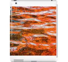 Red autumn colours reflected in water iPad Case/Skin