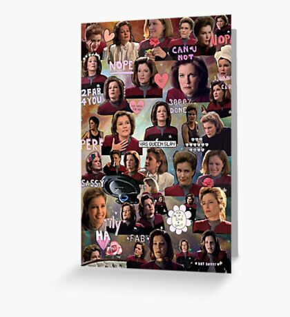 Space Queen Janeway Greeting Card