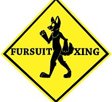 Caution: Fursuit Xing by soramisery