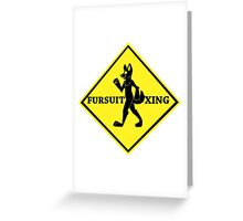 Caution: Fursuit Xing Greeting Card
