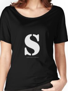 S - White Text Women's Relaxed Fit T-Shirt