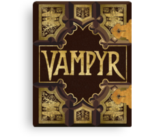 Vampyr Book - Buffy the Vampire Slayer Canvas Print