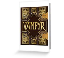 Vampyr Book - Buffy the Vampire Slayer Greeting Card