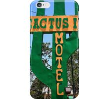 Route 66 - Cactus Inn Motel iPhone Case/Skin