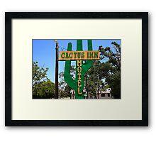 Route 66 - Cactus Inn Motel Framed Print