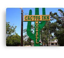 Route 66 - Cactus Inn Motel Canvas Print