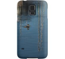 Young Red-Necked Grebe on Silver Samsung Galaxy Case/Skin