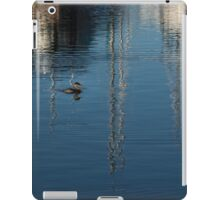 Young Red-Necked Grebe on Silver iPad Case/Skin