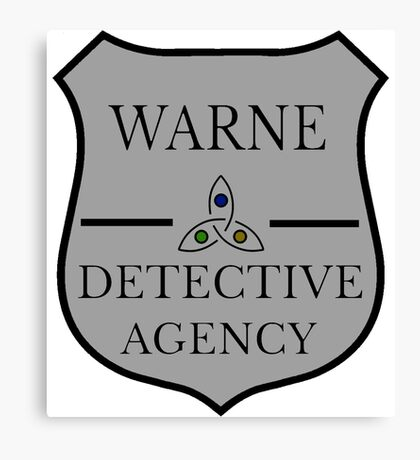 Warne Detective Agency Badge Canvas Print