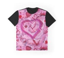 Romantic Scribble Heart Pink 17 Graphic T-Shirt