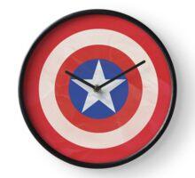 Captain America Simple Logo T-Shirt Clock