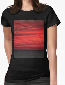 Red Sky at Night Womens Fitted T-Shirt