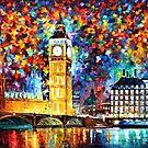 Big Ben, London — Buy Now Link - http://goo.gl/Q4PhhB by Leonid  Afremov