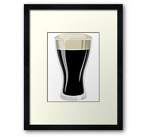 Dark Beer Framed Print