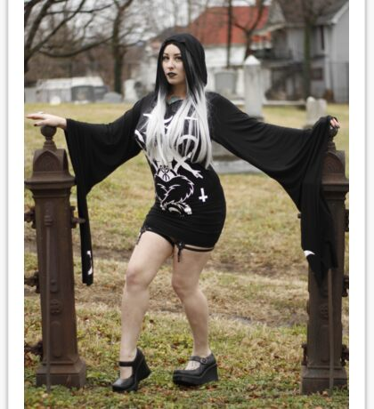 Gothic Graveyard Girl  Sticker