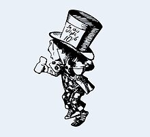 Mad Hatter, Alice in Wonderland by NerdGirlTees