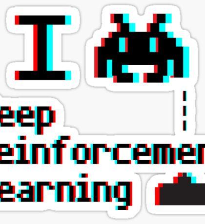 I heart deep reinforcement learning (8-bit 3D) Sticker