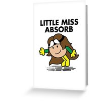 Little Miss Absorb Greeting Card