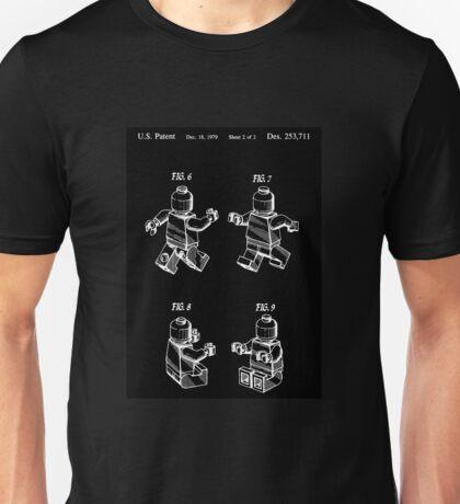 Lego Patent Sketch Unisex T-Shirt