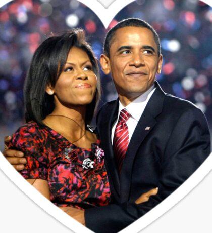 obama and michelle  Sticker