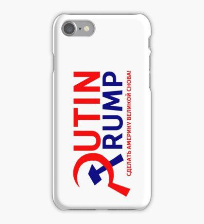 Putin Trump Make America Great Again (in Russian) iPhone Case/Skin