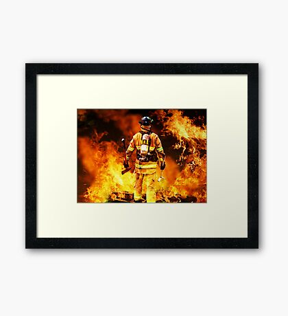 In to the fire Framed Print