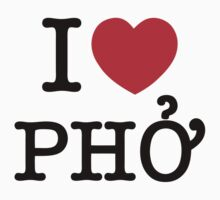 I Heart (Love) Phở Kids Clothes