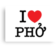 I Heart (Love) Phở Canvas Print
