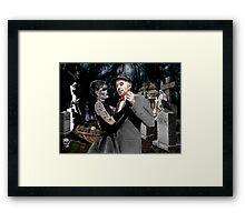 ED GEIN GRAVE DANCING Framed Print