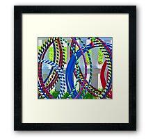 Hula Hoops! Framed Print