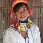 Burmese tribal woman by indiafrank