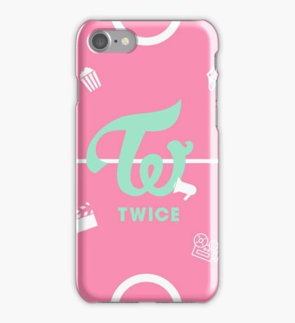 TWICE Logo PINK/Playful ver. iPhone Case/Skin