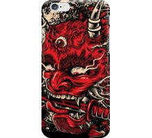 Red Hannya Mask iPhone Case/Skin