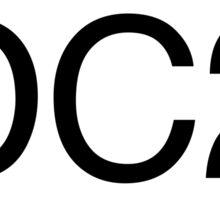 Oval DC2 sticker Sticker